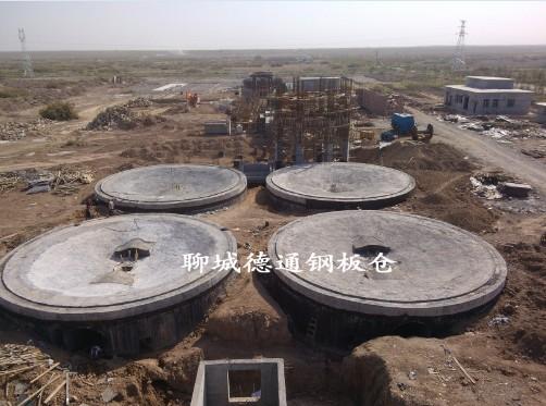 新疆5千吨水泥钢板库4座